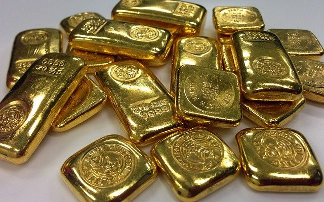 Viele Goldbarren